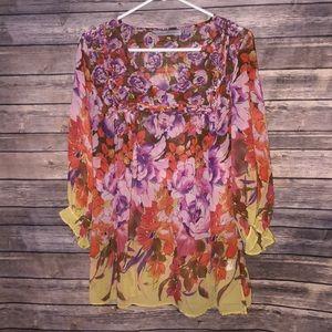 Avenue floral blouse